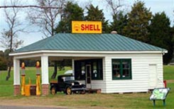Sinclair Gas Station, which was moved from Henrico County, Virginia to Goochland County, Virginia.