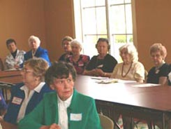 HCHS members listening to speakers at 2004 September meeting.