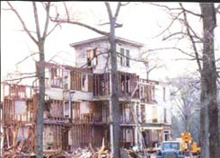 Demolition of Forest Lodge, 1989.