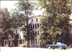Demolition of Forest Lodge, front view, 1989.