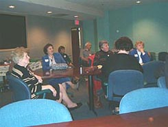 HCHS members listening to speakers at December 2004 meeting.