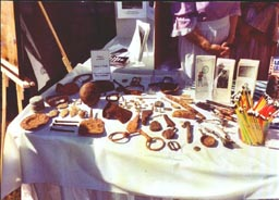 More Artifacts on display, Glen Allen Day, 2003.