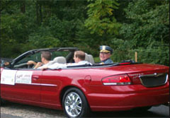 Henrico County Chief of Police, Col. Henry Stanley in Glen Allen Day Parade.