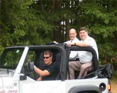 Henrico County Sheriff Mike Wade (right) in Glen Allen Day Parade.
