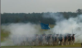 Presentation of 18th century military tactics by the Commander-in-Chief's Guard commemorating the 225 anniversary of the victory at Yorktown on October 19th.