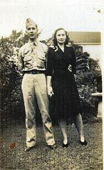 Corporal Robert E. Hawkes, Sr. and wife, Eunice Sheppard Hawkes.