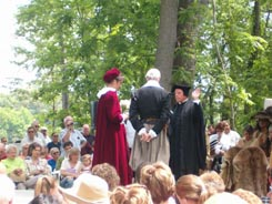 Events included a reenactment of the wedding of John Rolfe and Pocahontas.