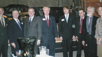 Trevor Dickerson and other preservation award honorees standing with Virginia Governor Tim Kaine and other prominent leaders attending the ceremony.