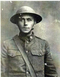 Alonzo Hyatt Kelly in his WWI army uniform.