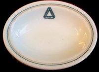 1950s dining car china