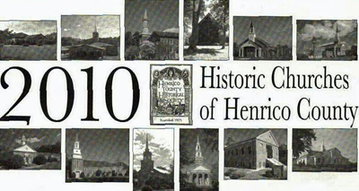 HCHS 2010 calendar featuring twelve county churches and their histories.