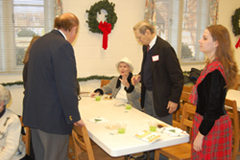HCHS members gather for refreshments during their December 2010 meeting.