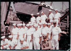 The crew of the USS Henrico in 1967.