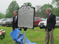 Part of our sister county's May 14th celebration included a ceremony held in Christ Episcopal Church and the unveiling of a roadside marker honoring Rev. Dr. W.A.R. Goodwin, whose boyhood home was in Nelson County.