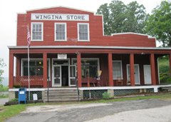 Attendees visited downtown Wingina.