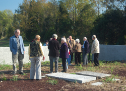 Members of APHA view Randolph Cemetery on Turkey Island.