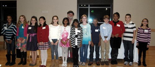 Historical interpreter Lindsay Gray and Henrico fifth-graders recognized for their historical essays.