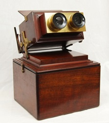 Most common type of stereoscope.