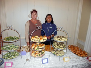 Tea afficianado and pastry chef Lurline Wagner provided refreshments for the Afternoon Tea and Dance.