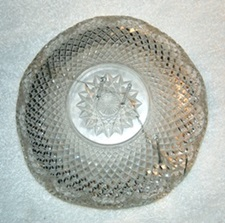 Repaired crystal bowl.