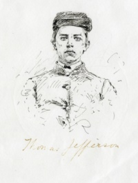 Sketch of Thomas Garland Jefferson (courtesy of VMI Archives).