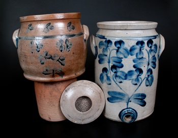 Baltimore-made stoneware cooler.