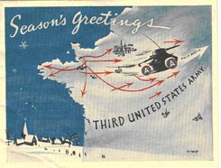 1944 Christmas card greeting.