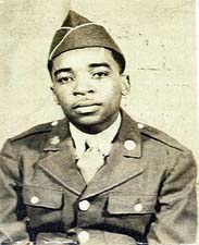 Welford Lloyd Williams attired in U.S. Army uniform, 1940s.