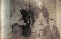 Pembroke Leake is the gentleman seated in this picture.