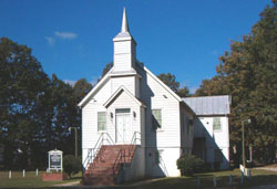 Springfield Baptist Church, which was moved from Henrico County, Virginia to Goochland County, Virginia.