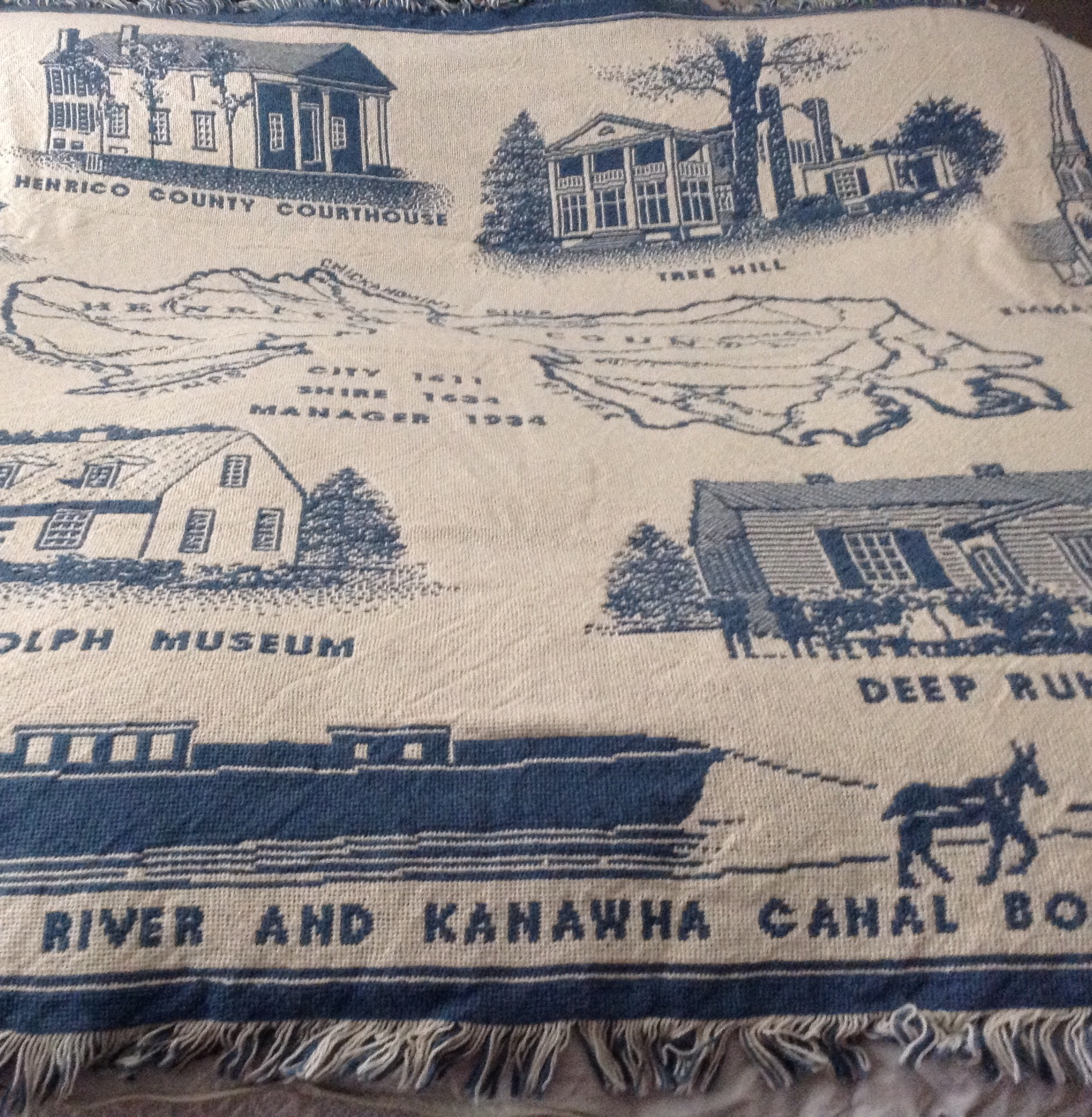 Henrico County Historical Society Coverlet.