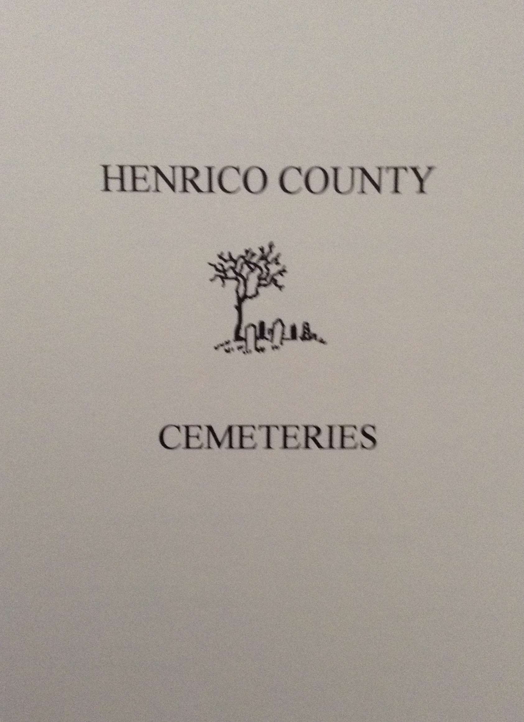 Henrico County Cemeteries book.