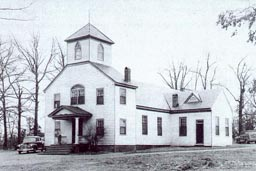 Ridge Baptist Church, circa 1853, in Three Chopt District, Henrico County, Virginia.